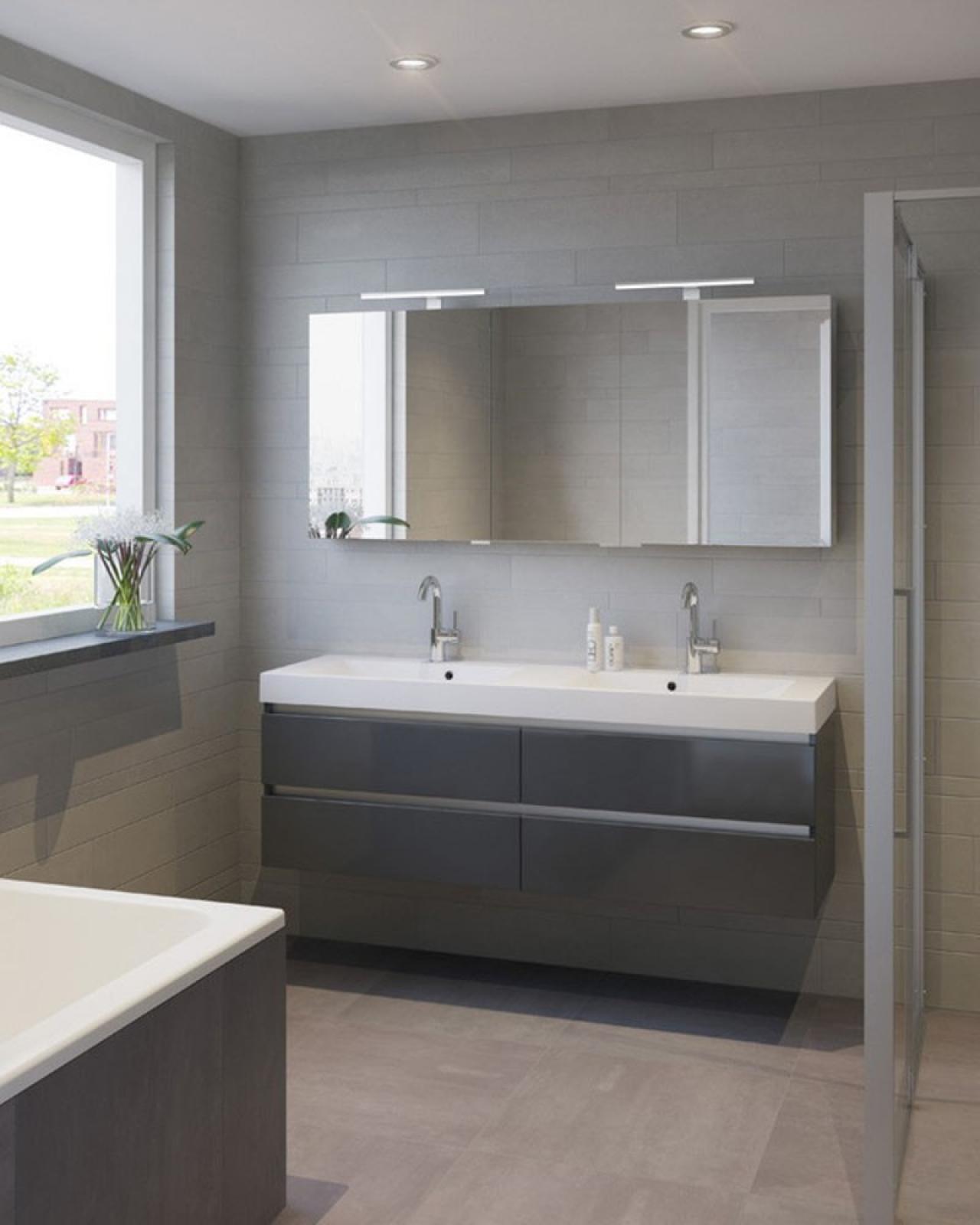 wastafel en badkamerkast badkamer badkamerkast spiegel galerij